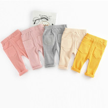 Fashion Baby Pants Spring Autumn 100 Cotton Baby Boy Girl Pants Infant Baby Leggings Waist Kids Pant Trousers Baby Clothes cheap Full Length Solid skinny Casual Fits true to size take your normal size Broadcloth Polyester Cotton Unisex Cotton knitting