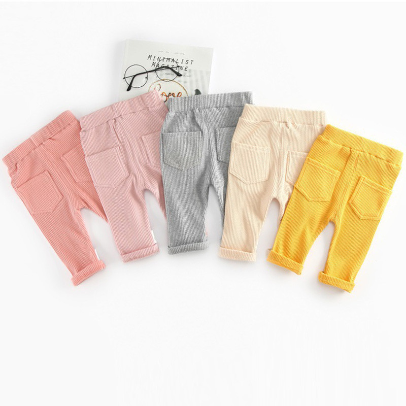 Fashion Baby Pants Spring Autumn 100% Cotton Baby Boy Girl Pants Infant Baby Leggings Waist Kids Pant Trousers Baby Clothes