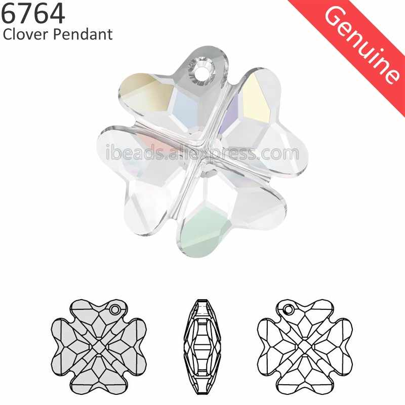 (1 piece) 100% Original Crystal from Swarovski 6764 Clover pendant made in Austria loose beads rhinestone for DIY jewelry making