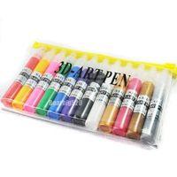 12 Colors Professional Beautiful Finger Nail Design Paint Pen UV Gel Acrylic Nail Art Polish DIY