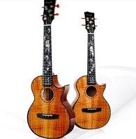 Новый Enya A8 Ручной Работы Укулеле с пикап для шоу для детей 10 лет 5A Гавайи КоА 4 строка мини гитара Музыкальные инструменты