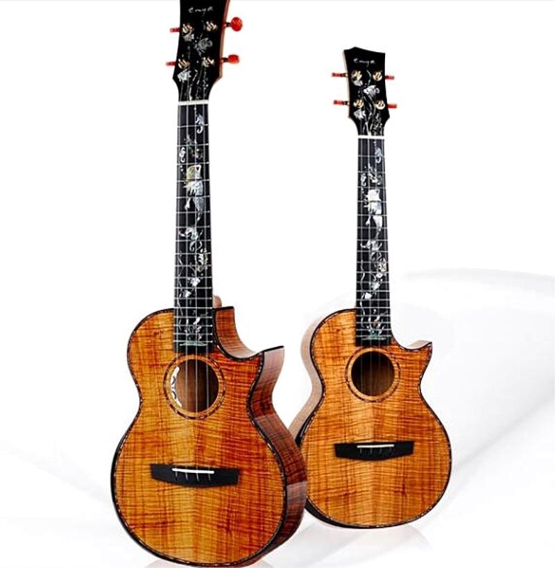 NEW Enya A8 Handmade Ukulele with pickup for Show 10 years 5A Hawaii KOA 4 string Mini Guitar Musical Instruments taylor gs mini e koa gs mini layered koa koa top es b