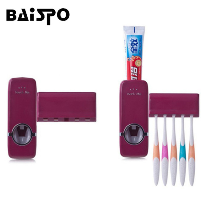 Automatic Toothpaste Dispenser Toothbrush Holder Set Wall Mount toothbrush Home sets Bathroom Products Toothpaste Squeezers