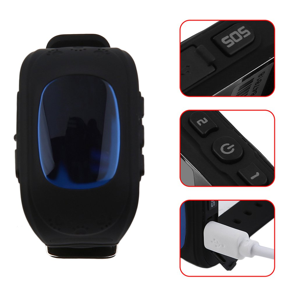 Q50 Smart Child Watch LCD Screen GPS Tracker SOS Call Anti Lost Monitor Pedometer Kids Wristwatch Phone Call 2019