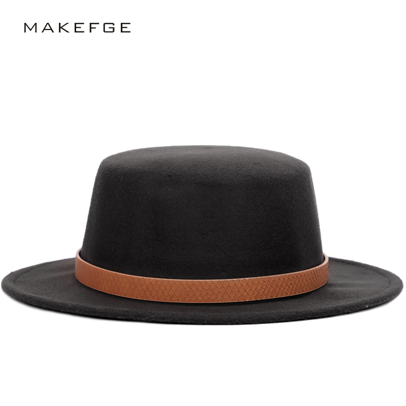 Detail Feedback Questions about High Quality Solid Color Wool Fedoras  Autumn Winter Woman Top Hat Man Felt Hat Wide Brimmed Bowler Ladies Vintage  Hats ... 0685e8682fb0
