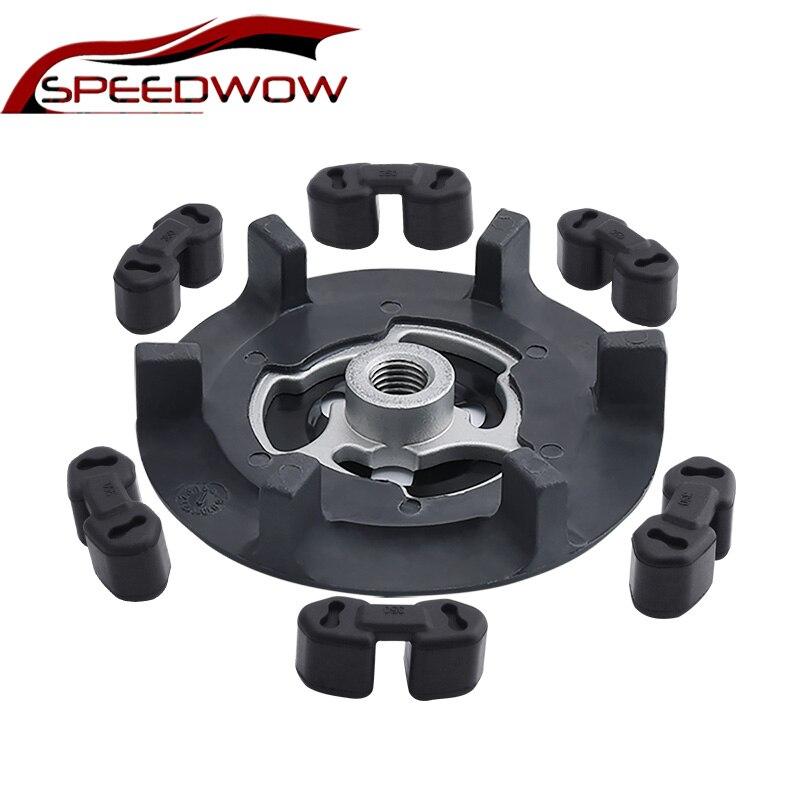 SPEEDWOW Otomatik Hava AC kompresör kavraması Hub + Kauçuk 5SE09C 5SL12C 5SEU12C 6SEU14C 6SEU17C 7SEU17C Için VW BMW için