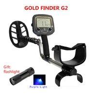Big Promotion High Quality G2 Gold Detector Ground Metal Detector Tester Gold Material Finder Metal Finder digger Machine +Torch