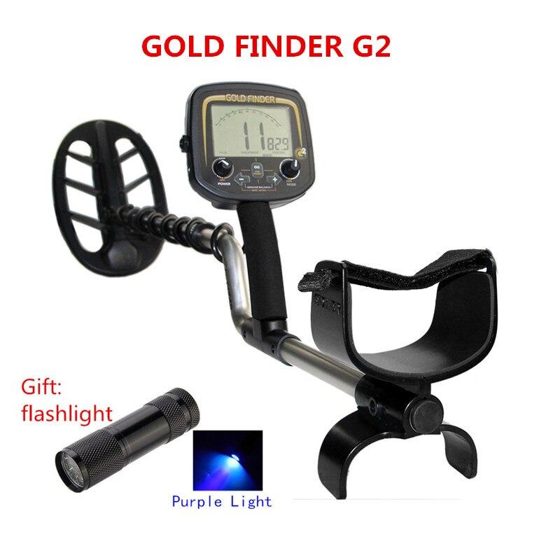 Grande Promozione di Alta Qualità G2 Oro Detector Metal Detector A Terra Tester Oro Materiale Finder Metallo Finder digger Macchina + Torcia