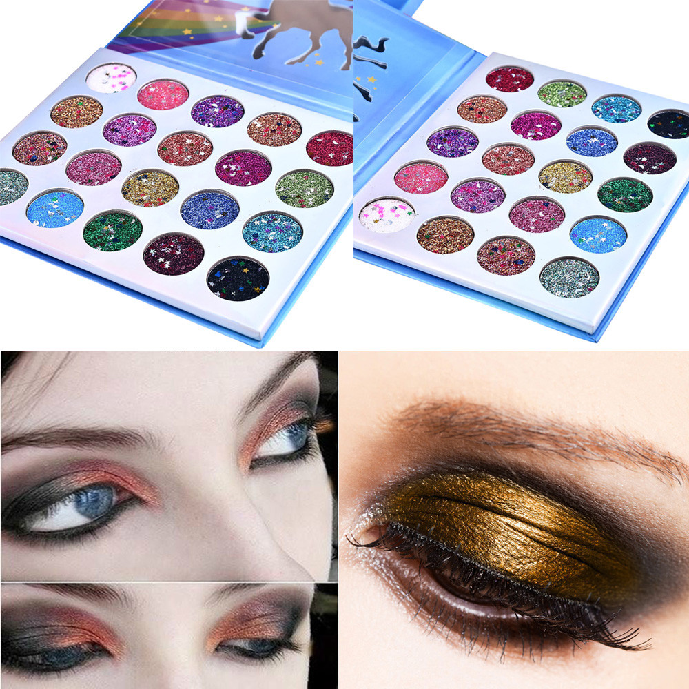 Eyeshadow Pallete Shimmer Glitter Eye Shadow Powder Palette Matte Eyeshadow Cosmetic Makeup 0809