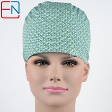 surgical scrub caps in green with whales