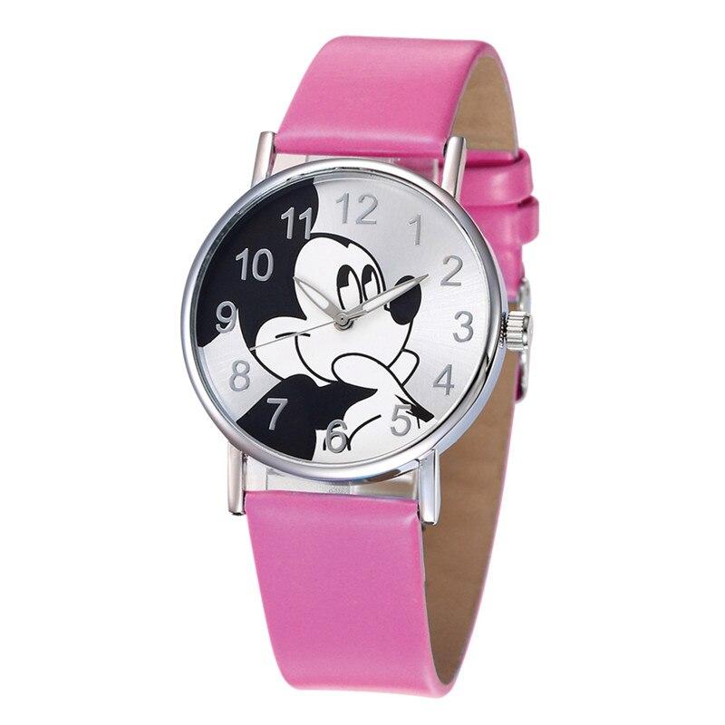Children Watch Kids Watches Fashion Cartoon Cute Mickey Mouse Clock Leather Strap Quartz Wristwatch Hot Montre Enfant