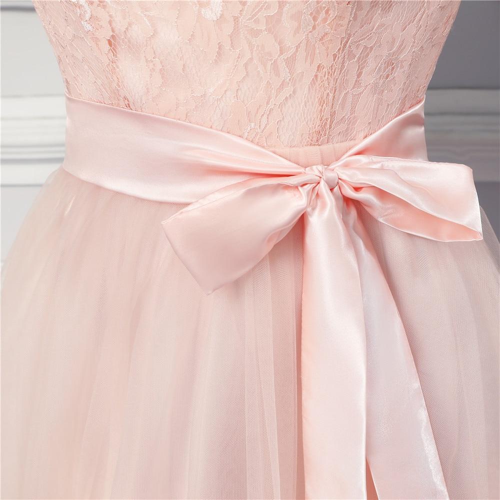 Vestidos de dama de honor largo 2017 Nuevo diseñador tulle Encaje ...