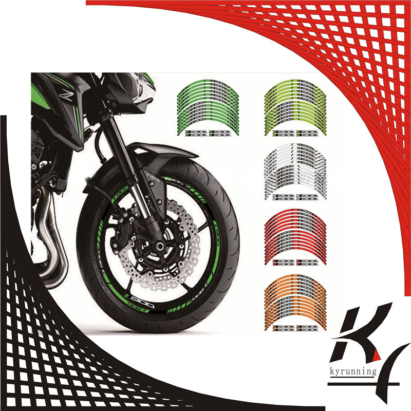 Us 2455 12 X Thick Edge Outer Rim Sticker Stripe Wheel Decals Fit All Kawasaki Z900 Z 900 In Decals Stickers From Automobiles Motorcycles On