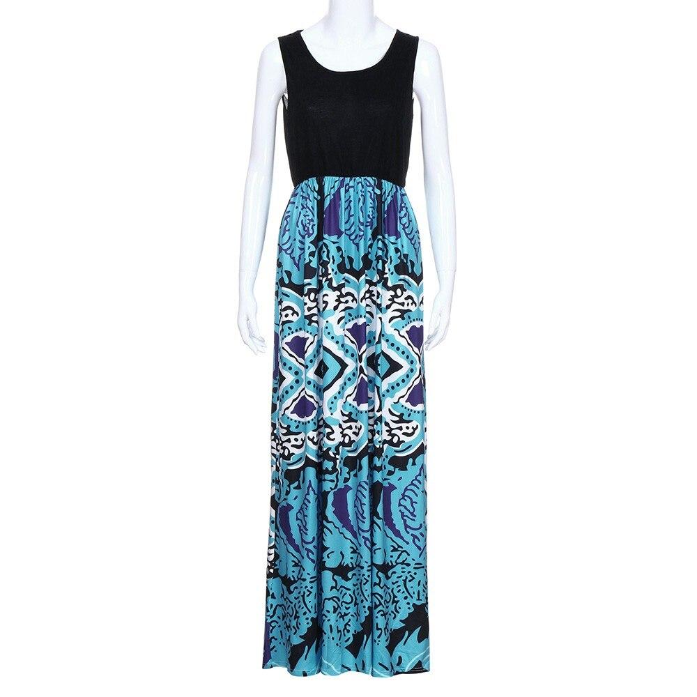 2018 Hot Sale dress female New Fashion Mommy Me Women Print Sundress Vest Sleeveless Slim Dress Family Clothes vestidos Robe