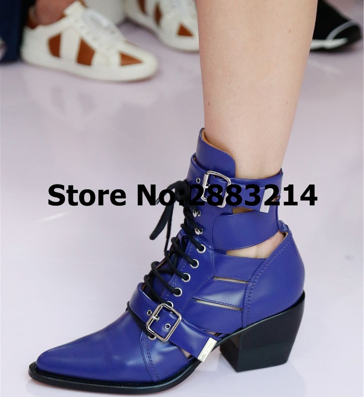 최고 품질 여성 속이 빈 봄 가을 발목 부츠 여자 레이스 라운드 발가락 럭셔리 스타일 짧은 부츠 신발 botas mujer-에서앵클 부츠부터 신발 의  그룹 2