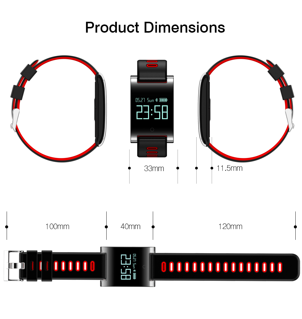 DRRBYY Smart Watch DM68 Heart Rate Monitor Pedometer Blood Pressure Tracker Waterproof Bracelet Smart Wristband For IOS Android