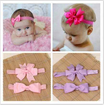 baby girl kids elastics hair head bands flower satin ribbon bows headband accessories for newborns hair wrap hairband headwear