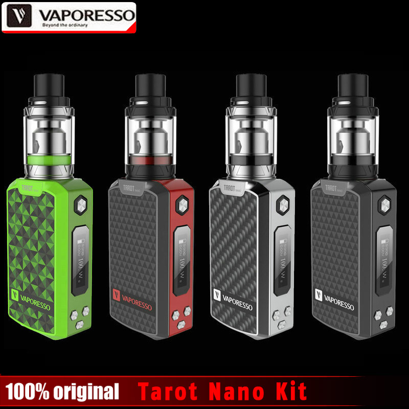 Original 80W Vaporesso Tarot Nano TC Kit 2500mAh with VECO EUC Tank 2ml Tarot MOD 80W EUC Coil Vaping Kit VS Smok Alien 220W Kit original ijoy captain pd1865 tc 225w kit captain tank 4ml atomizer no 18650 battery captain pd1865 mod e cigarette vaping kit