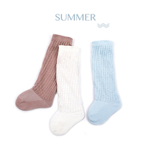Niduo Bear New Kids Socks Toddlers Girls Big Bow Knee High Long Soft Cotton Lace baby kniekousen meisje Dropshipping