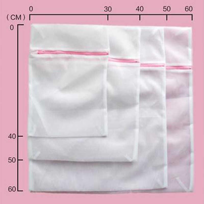 YuZe 9 Tamanhos Com Zíper Dobrável Saco de Nylon Lavanderia Meias Sutiã Cueca Máquina de Lavar Roupas de Proteção Sacos de Rede de Malha