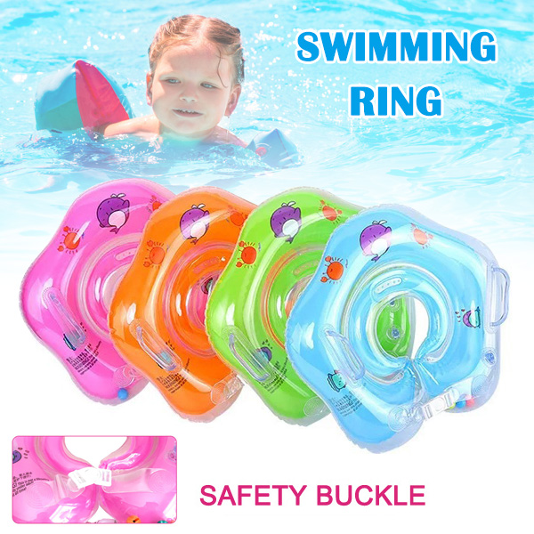 2020 New Baby Inflatable Swim Ring Bathing Circle Neck Float Wheels Pool Rafts Summer Toy