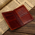 High Quality  Genuine Leather Credit Card Wallet Real Leather Card Holder  Small Mini Size Cowhide  license Holder  Bag case