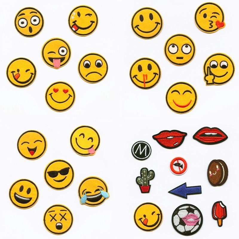 Yellow Smile Rich Expression patchwork parches bordados para la ropa - Artes, artesanía y costura