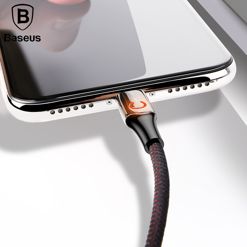 Baseus-Intelligent-Power-off-USB-Charging-Cable-for-iPhone-X-8-6-breathing-lighting-USB-Cable