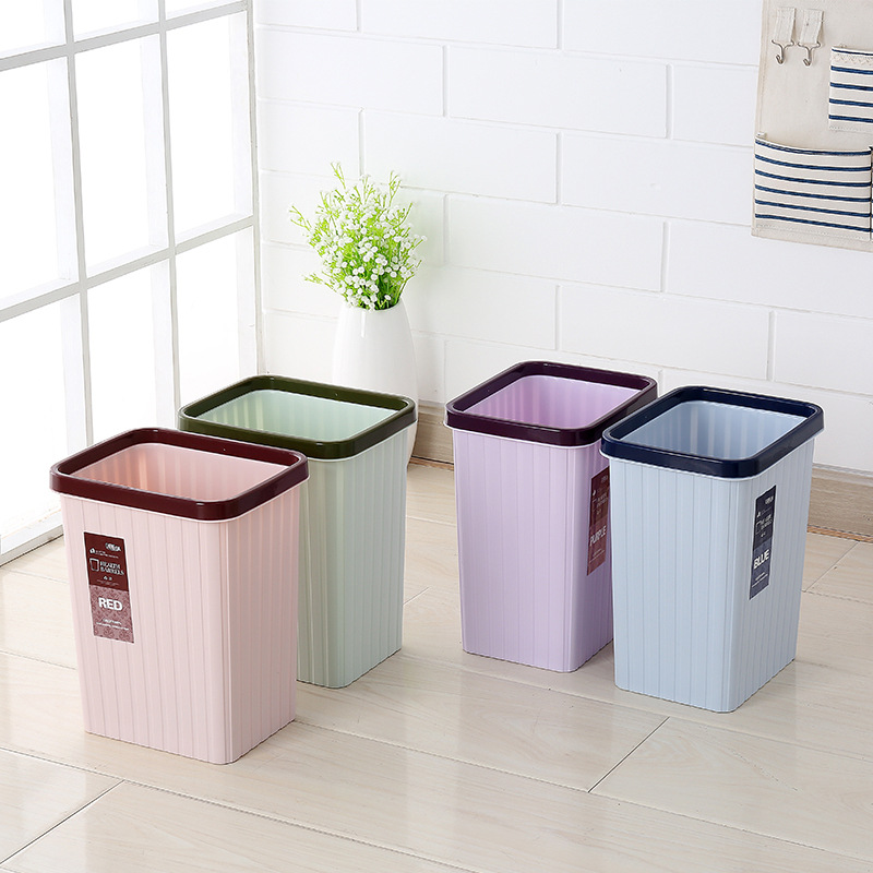 living room bin plastic pressure circle trash cans fashion color home 11520