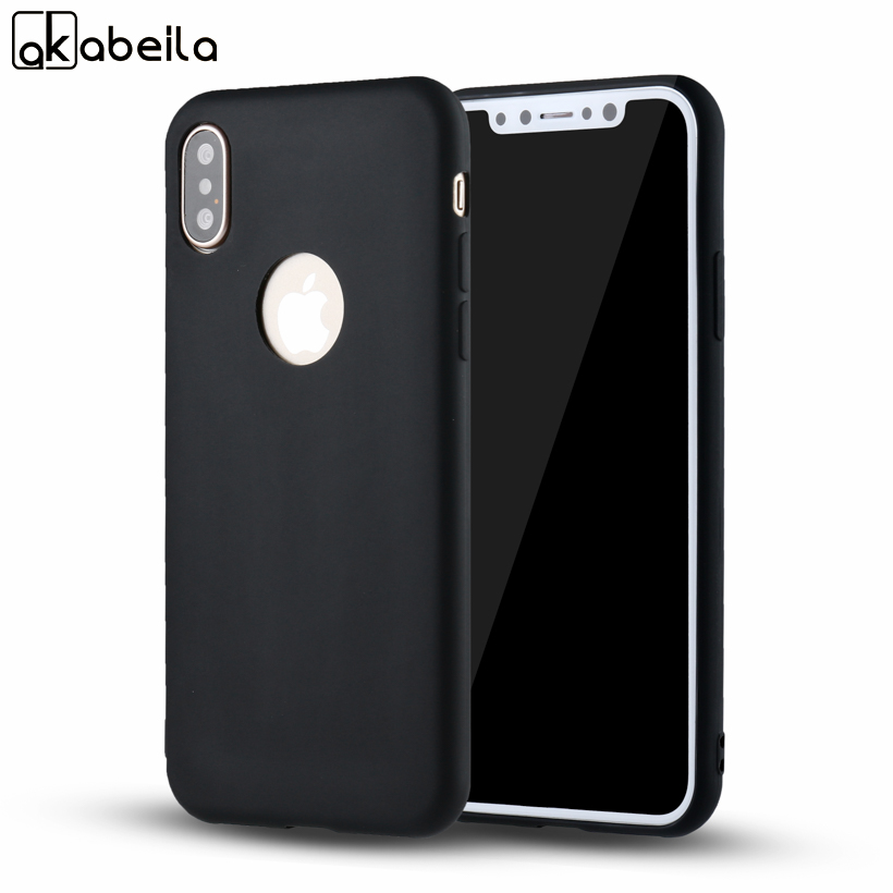 AKABEILA Silicone Phone Cover Case For Apple iPhone X iPhone 10 iPhone Ten 5.8 inch Phone Cases Soft TPU Back Covers Bags