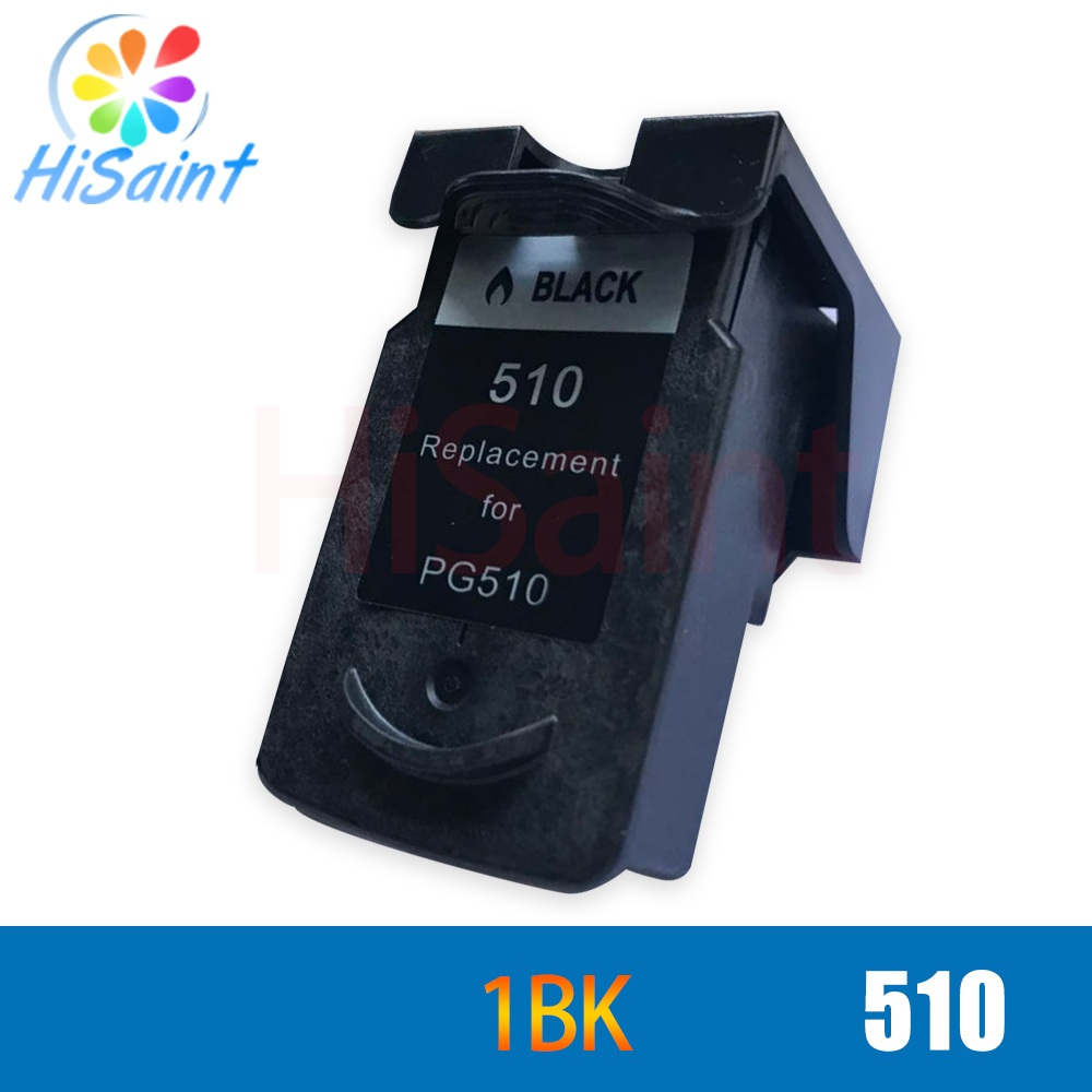 hisaint 1 PK Black Ink Cartridge For Canon 510 PG510 PG 510 PG-510 MP270 MP280 MP480 MP490 MX350 MP240 iP2700 Inkjet Printer