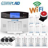 WiFi PSTN GSM Alarm System Kit Home Alarm System 433MHz Wireless & Wired Alarms Host Door Open Sensor Alarms APP Keyboard Screen