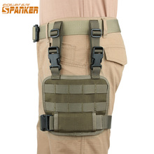 EXCELLENT ELITE SPANKER Outdoor Mesh Tools Pouch Universal Leg Hanging Pistol Bag Tactical Leg Bag Hunting Bags Pack Accessory excellent elite spanker outdoor tactical molle nylon hydration bag hunting camouflage waterproof bags military army combat bag