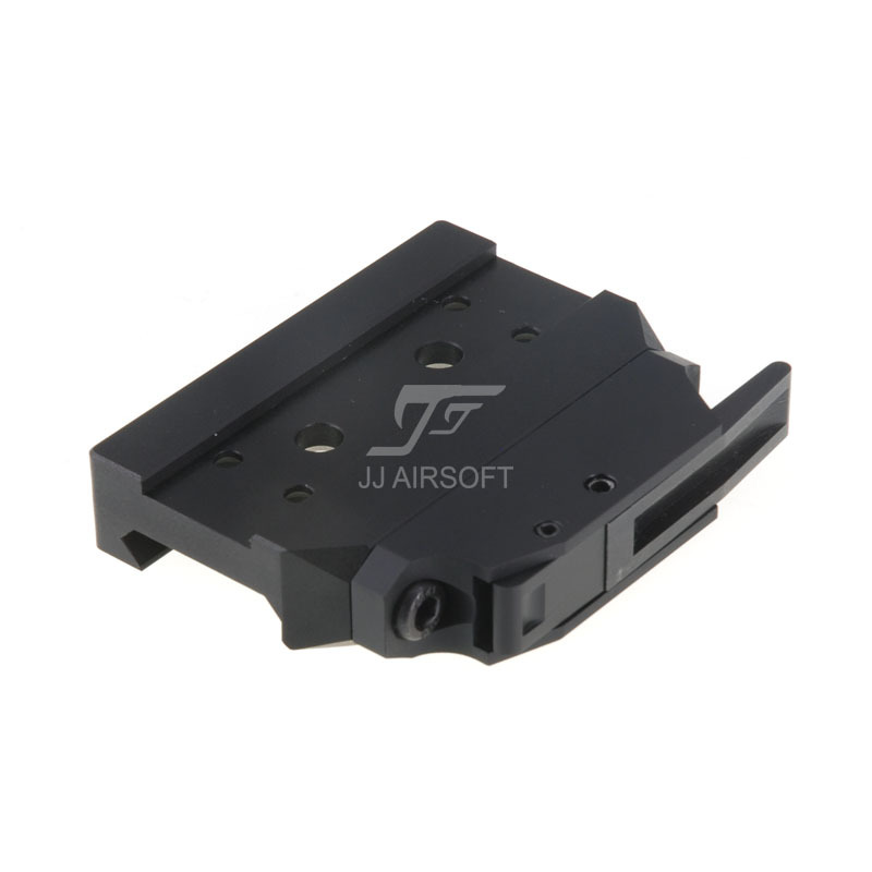 JJ Airsoft BOBRO Style QD Low Mount for T1 / T-1 / T2 / T-2 / TARGET TR02 Red Dot (Black) jj airsoft t1 t 1 red dot 45 degree offset mount qd mount and low mount tan