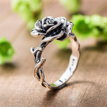 Wedding Valentines Gift Women Sale Vintage Engagement Ring 3D Rose Jewelry(China)