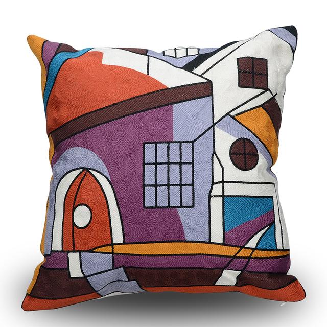 Cojines con dibujos Fundas de cojín de algodón fundas decorativas para el hogar para el sofá o coche 45×45 cm