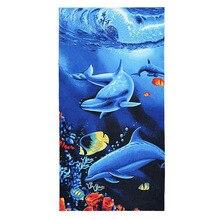 Big For Bath Men Beach Towels Tiger Horse Dolphin Microfiber Fabric 70*140cm Towel Hotel Large Adults