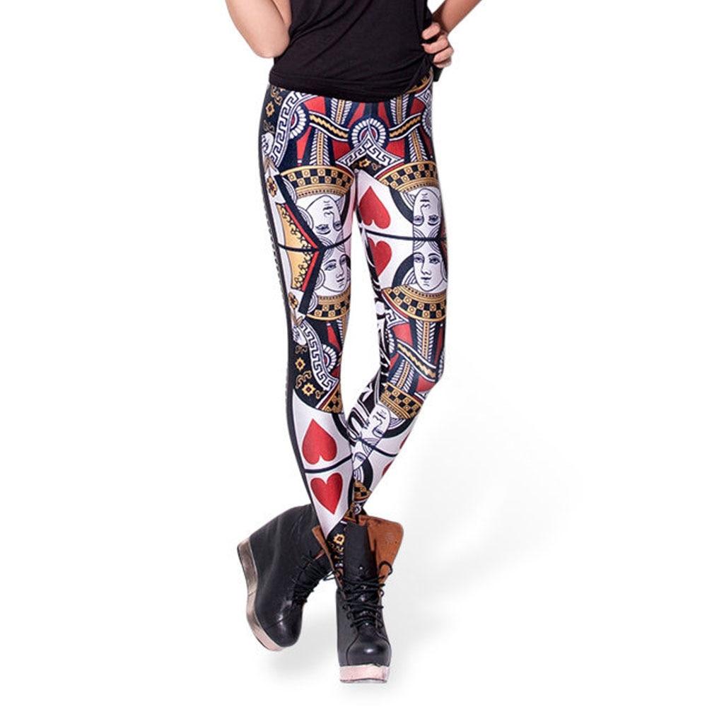 145ee23757 Trening Pantalones Mujer Moda damska Marki Drukowanie 3D Czarne Mleko  Legging Spodnie Sportowe Pokera Czerwony P Gry Legginsy