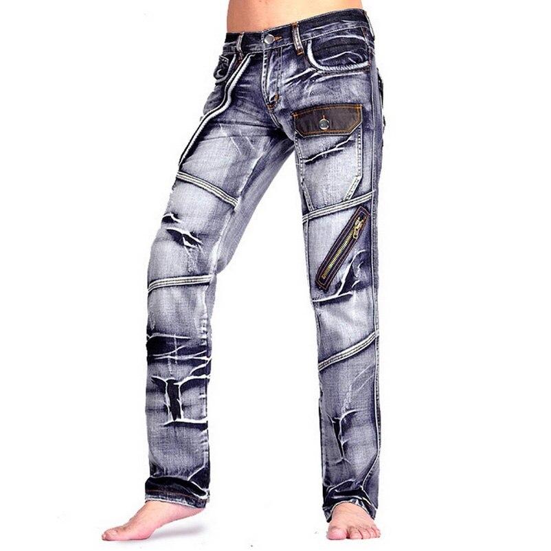 2019 Mens Designer   Jeans   Denim Top Blue Pants Man Fashion Pant Clubwear Cowday Size W30 32 34 36 38 L32 J007-J009