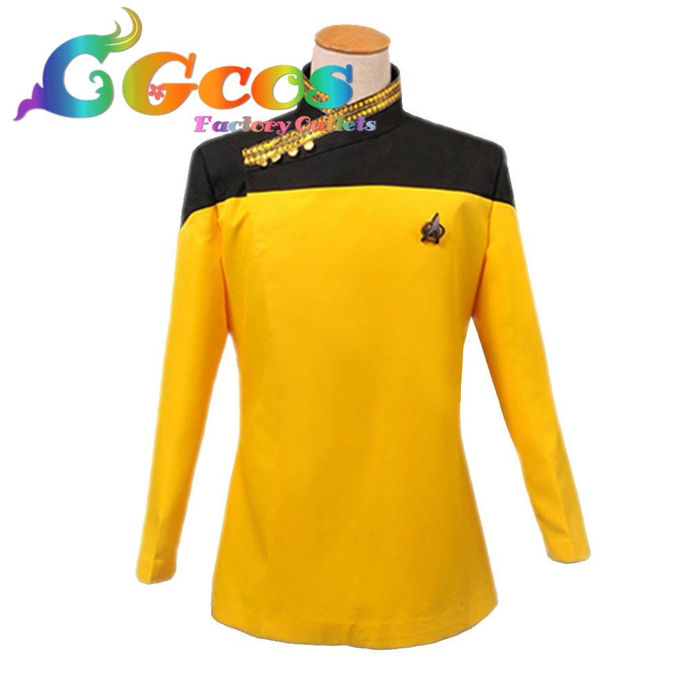 CGCOS Бесплатная Доставка Косплей Костюм Star Trek Top Рубашку Хэллоуин Рождественский Вечер Новый в Stcok