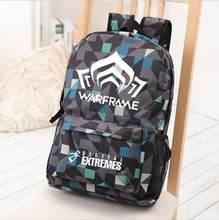 ab76c2927dc0 Компьютерная игра Warframe рюкзак ACG онлайн сумка Обувь для мальчиков и  Обувь для девочек школьная сумка