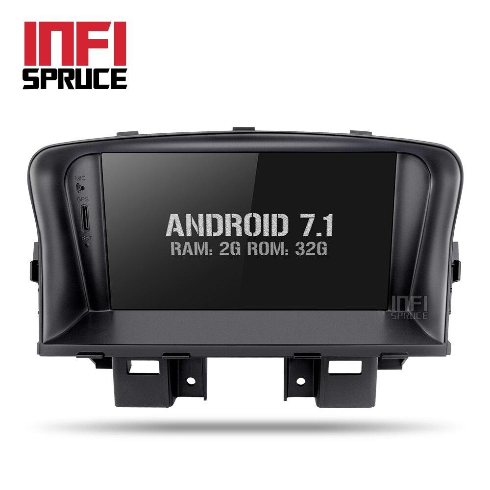 Dvd-плеер GPS для Chevrolet Cruze 2008-2014 с GPS навигации Радио 2 DIN стерео Android 7.1 2 г + 32 г Wi-Fi медиаплеера ...