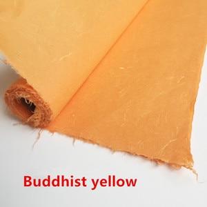 Image 4 - Рисовая бумага xuan для китайской живописи, наполовину НЕОБРАБОТАННАЯ рисовая бумага, 6 футов, Высококачественная картина ручной работы для создания кожи, цитрат 180*60 см