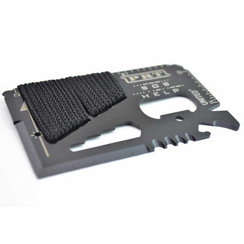 15 w 1 wielofunkcyjny przenośny gadżet kieszonkowe noże odkryty polowanie Survival Camping wojskowy karty kredytowej nóż narzędzia wielofunkcyjne