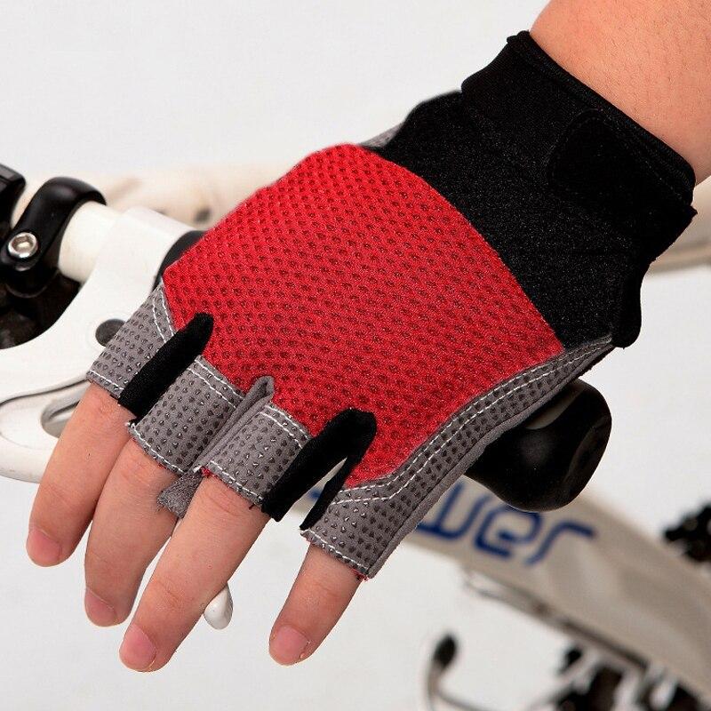 PowerPai Sommer Indoor mtb Fahrrad Radfahren Handschuhe Half Finger Herren Gym Fitness Wandern Handschuhe für frauen Ausrüstung Gewicht aufzug luva