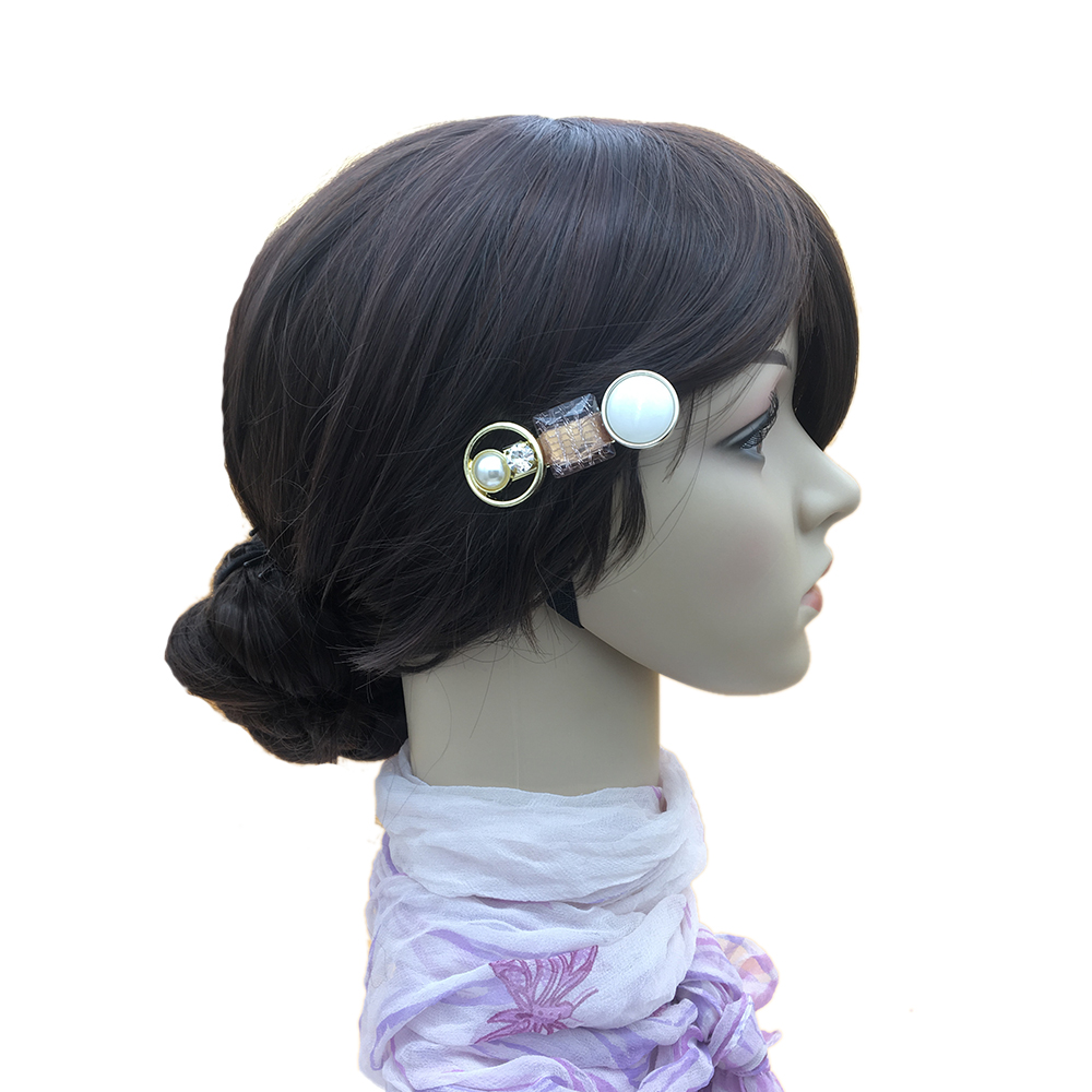 Earofcorn Simple Temperament Stitching Hair Clip Acetic Acid Hair Pin Set Combination Environmental Protection Hair Jewelry in Hair Jewelry from Jewelry Accessories
