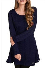 ed5e2652f9f IYAEGE 2018 Women Spring Autumn Sexy Warm Sweater Dress Party Robe Pull  Femme Hiver