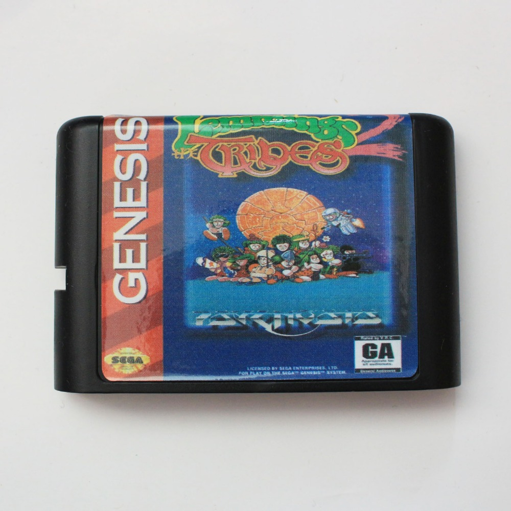 Lemmings 2 The Tribes 16 bit MD Game Card For 16 bit Sega MegaDrive Genesis game console