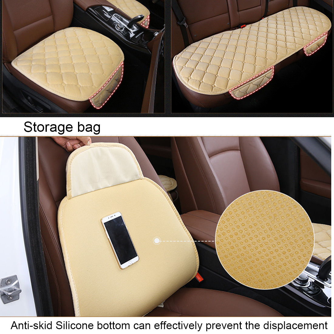 Image 3 - Dewtreetali 1pc Winter Warm Velvet Front Car Seat Cover Protector Driver Seat Cushion Pad Breathable Winter Chair Cushion-in Automobiles Seat Covers from Automobiles & Motorcycles