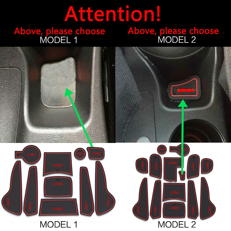 Gate slot pad  For Hyundai Solaris 2011-2015 Door Groove Mat Automotive interior Non-slip mats and dust mat